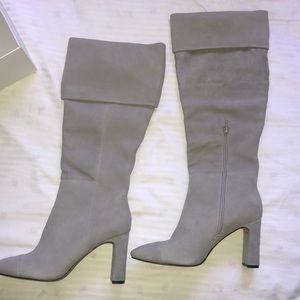Something Navy Mia Knee Boot light Grey